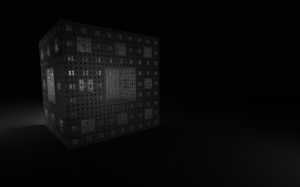 Menger sponge with hemilight from behind